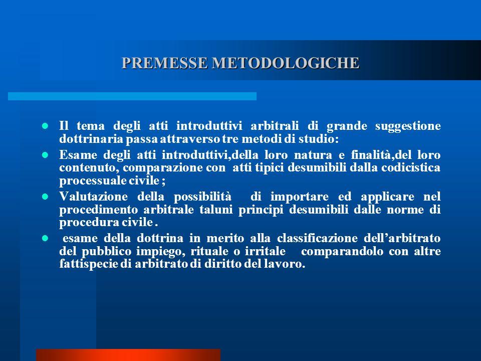 PREMESSE METODOLOGICHE