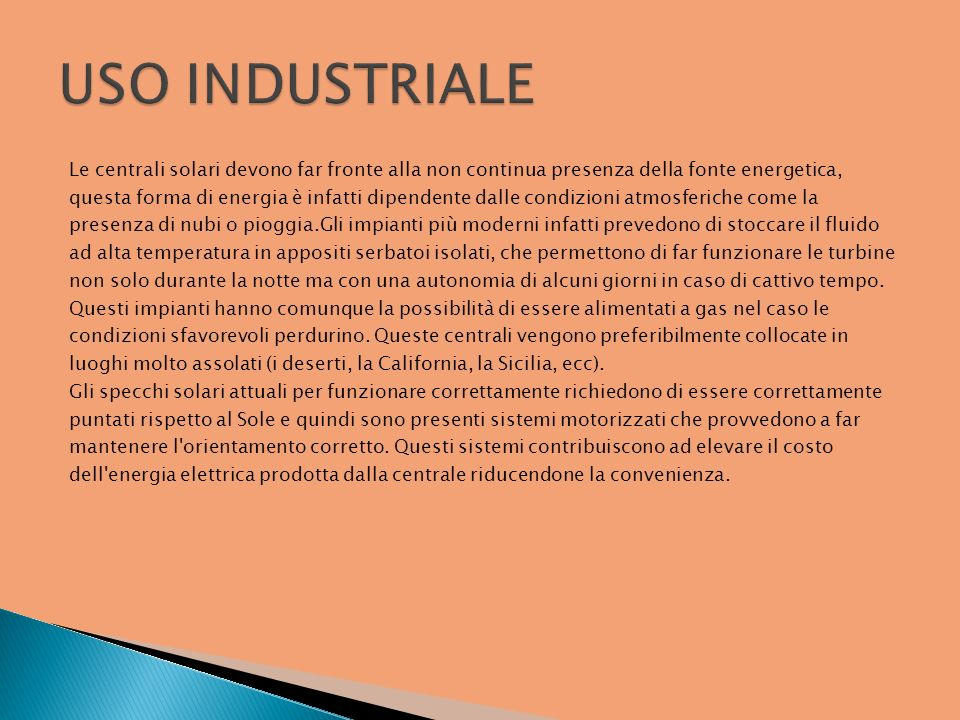 USO INDUSTRIALE
