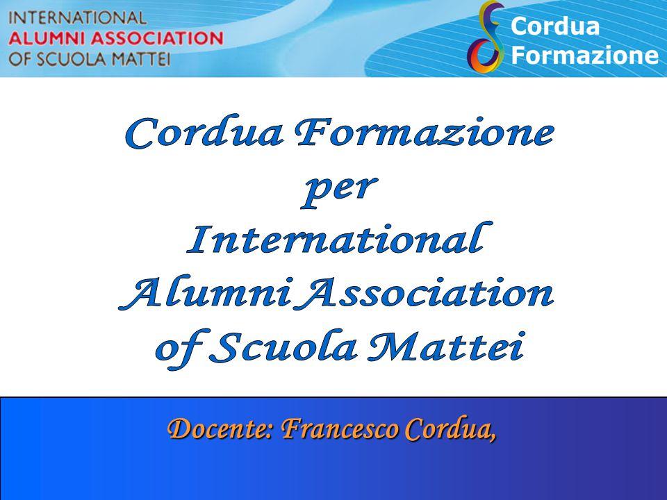 Docente: Francesco Cordua,