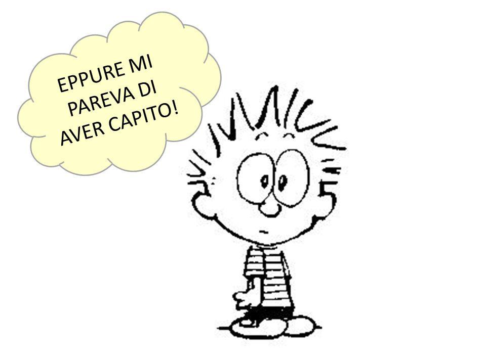 EPPURE MI PAREVA DI AVER CAPITO!