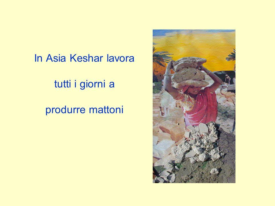In Asia Keshar lavora tutti i giorni a produrre mattoni