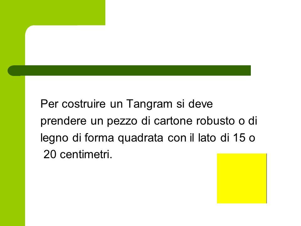 Per costruire un Tangram si deve