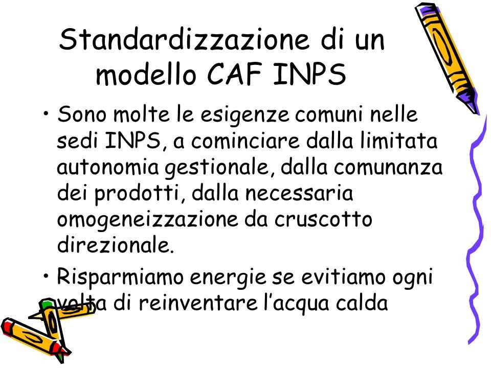 Standardizzazione di un modello CAF INPS