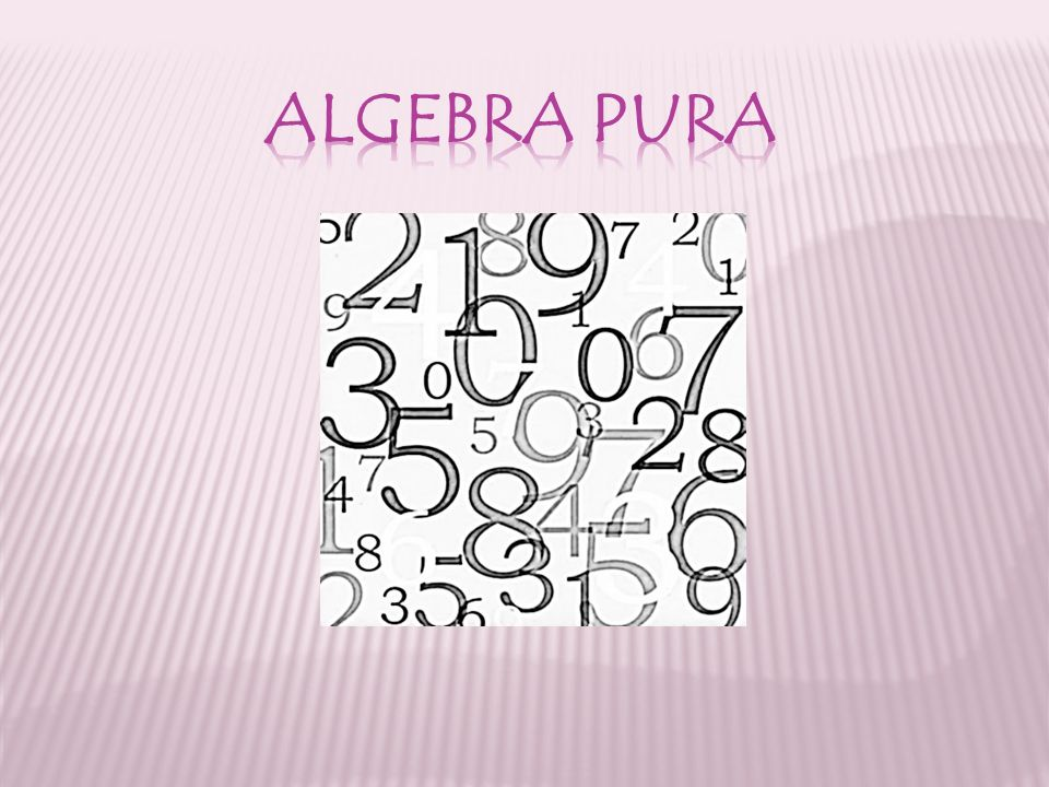 ALGEBRA PURA