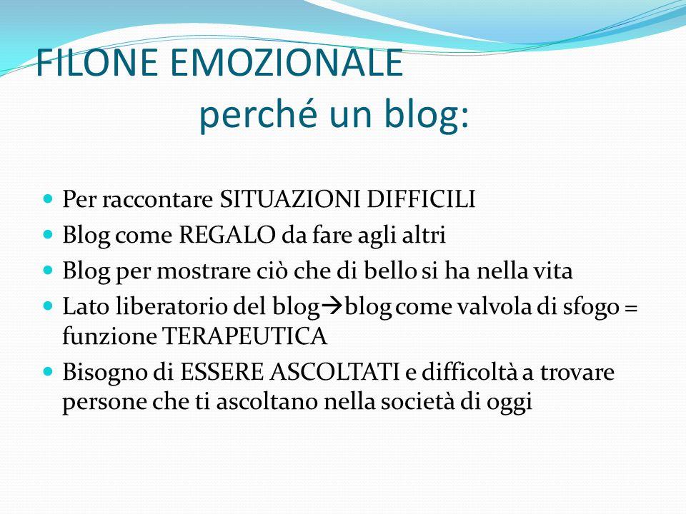 FILONE EMOZIONALE perché un blog: