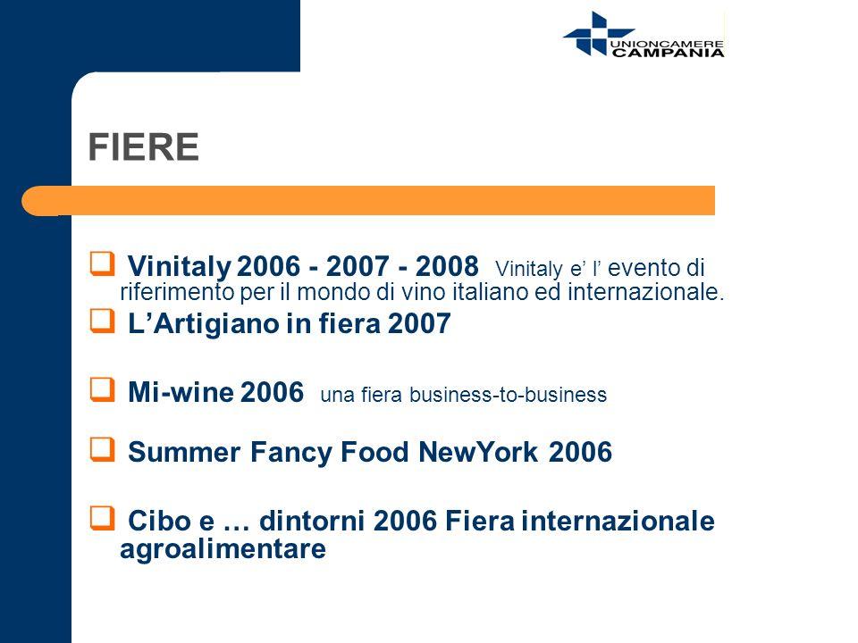 FIERE Vinitaly 2006 - 2007 - 2008 Vinitaly e' l' evento di riferimento per il mondo di vino italiano ed internazionale.