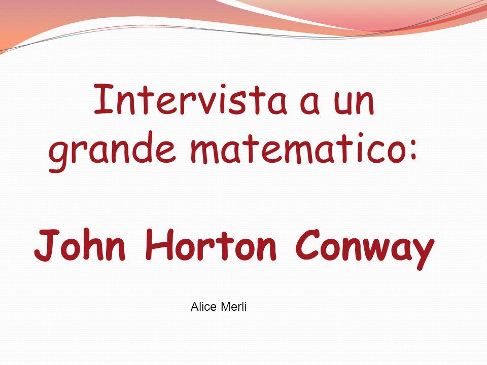 Intervista a un grande matematico: