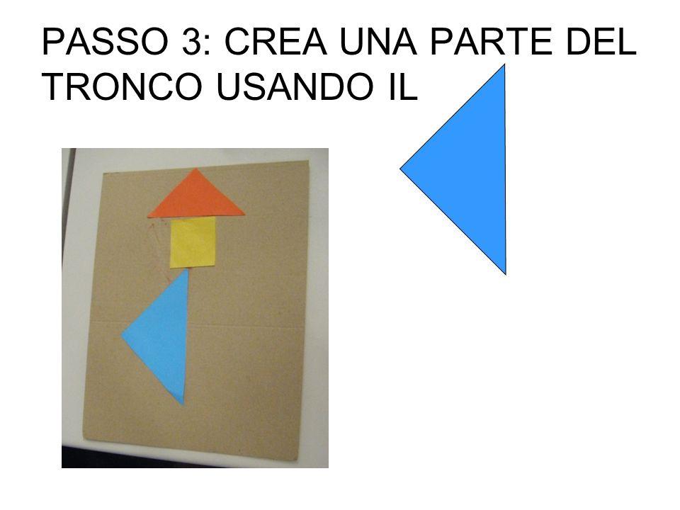 PASSO 3: CREA UNA PARTE DEL TRONCO USANDO IL
