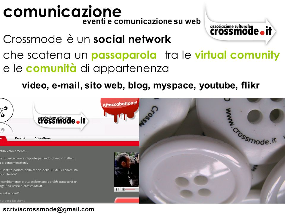 comunicazione Crossmode è un social network
