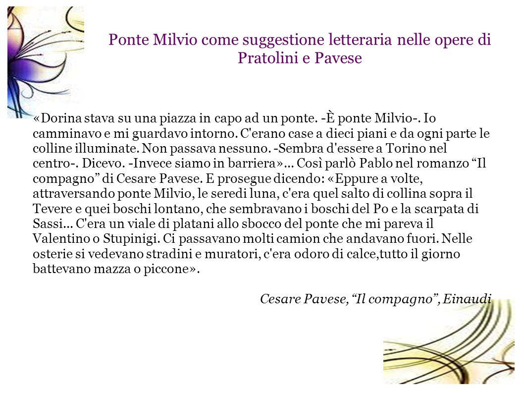 Ponte Milvio come suggestione letteraria nelle opere di Pratolini e Pavese