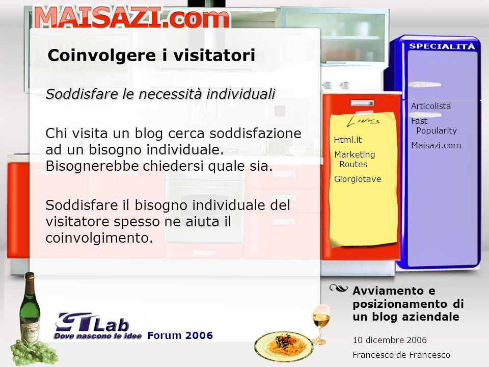 Coinvolgere i visitatori