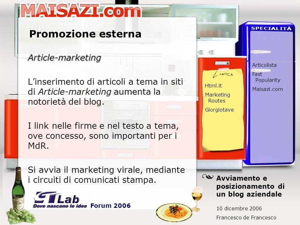 Promozione esterna Article-marketing