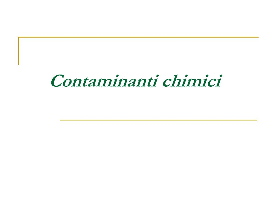 Contaminanti chimici