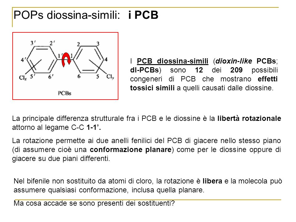 POPs diossina-simili: i PCB