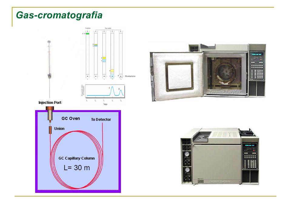Gas-cromatografia L= 30 m