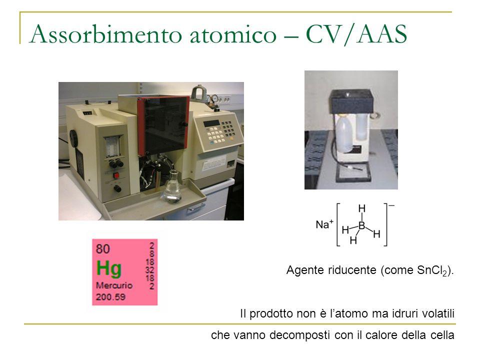 Assorbimento atomico – CV/AAS