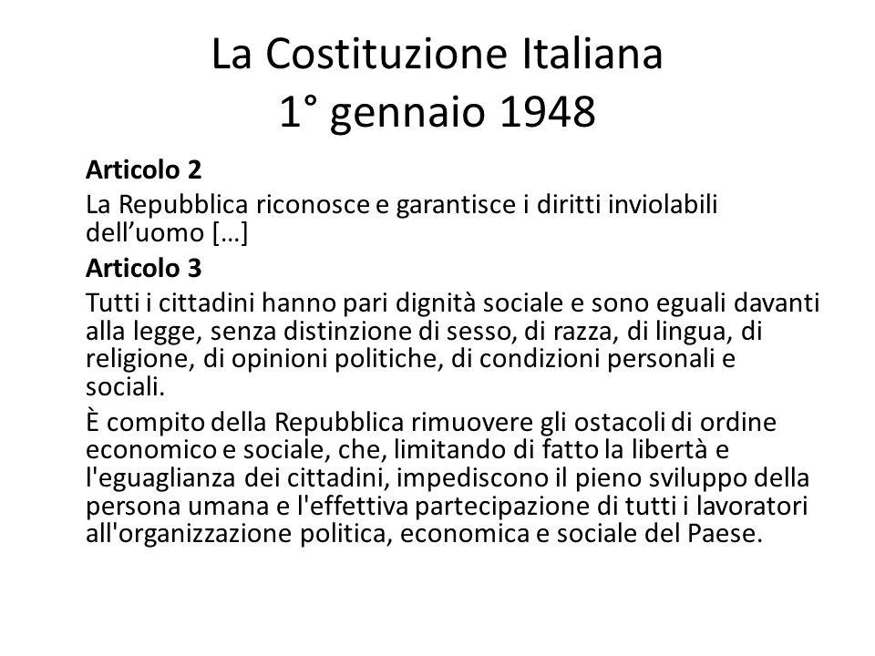 La Costituzione Italiana 1° gennaio 1948