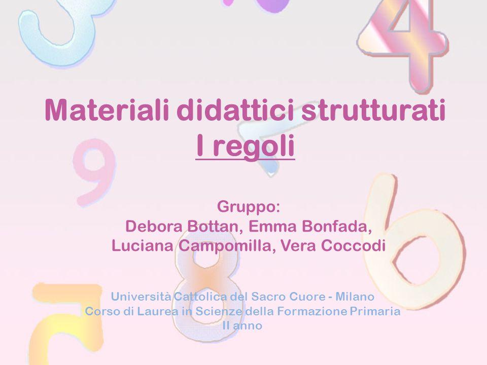 Materiali didattici strutturati I regoli