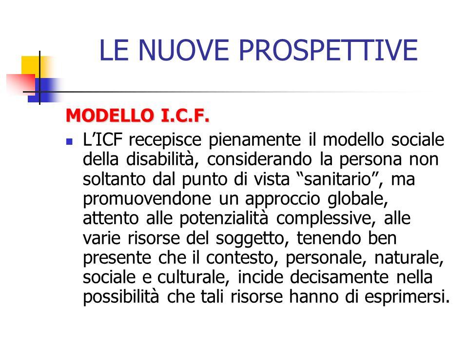 LE NUOVE PROSPETTIVE MODELLO I.C.F.