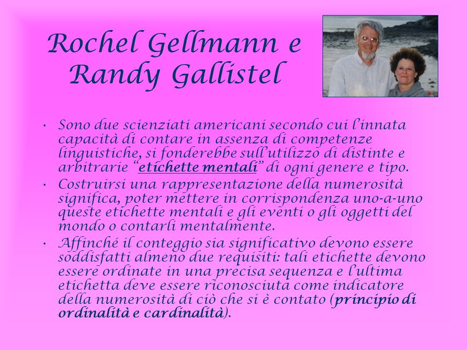 Rochel Gellmann e Randy Gallistel
