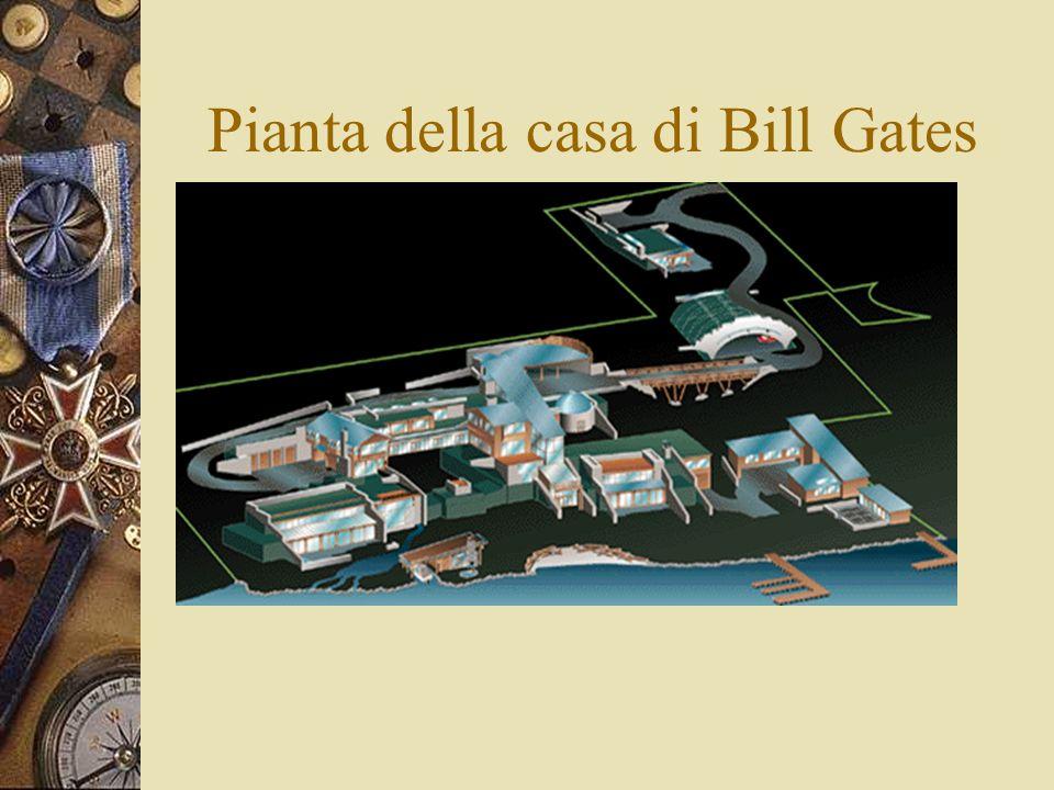 Pianta della casa di Bill Gates