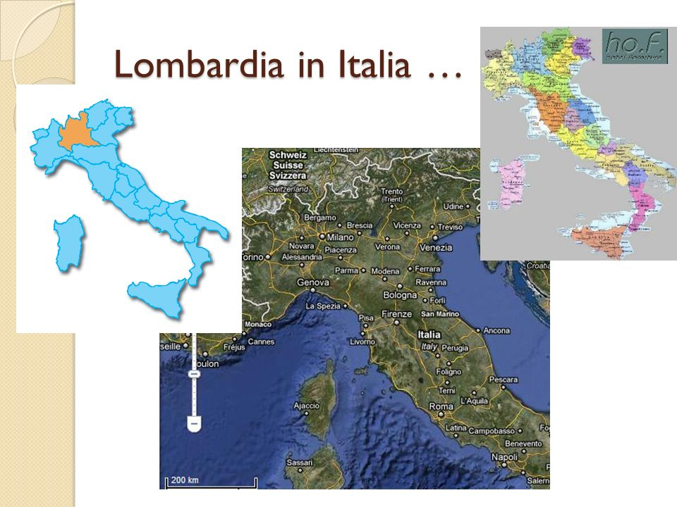 Lombardia in Italia …