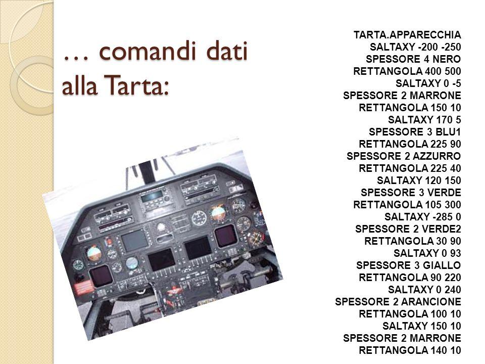 … comandi dati alla Tarta: