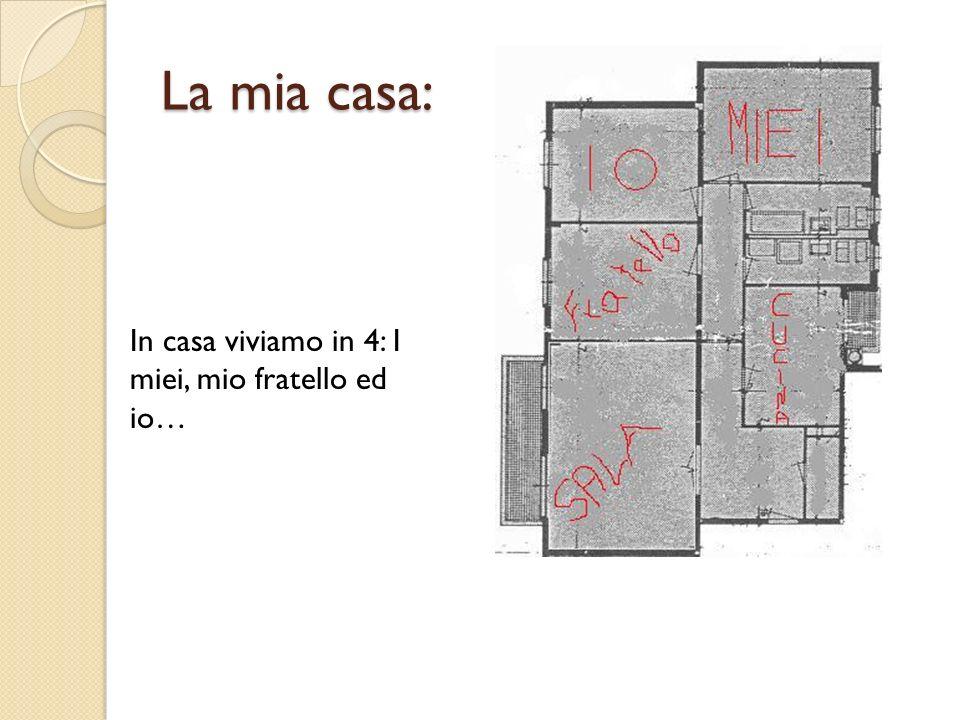 La mia casa: In casa viviamo in 4: I miei, mio fratello ed io…