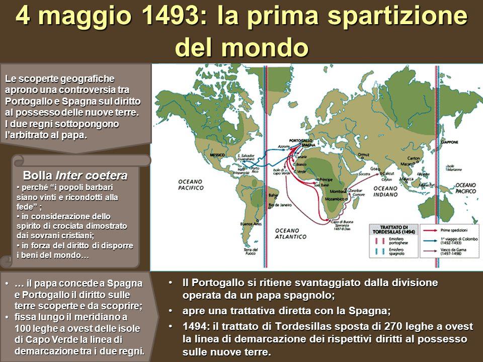 4 maggio 1493: la prima spartizione del mondo