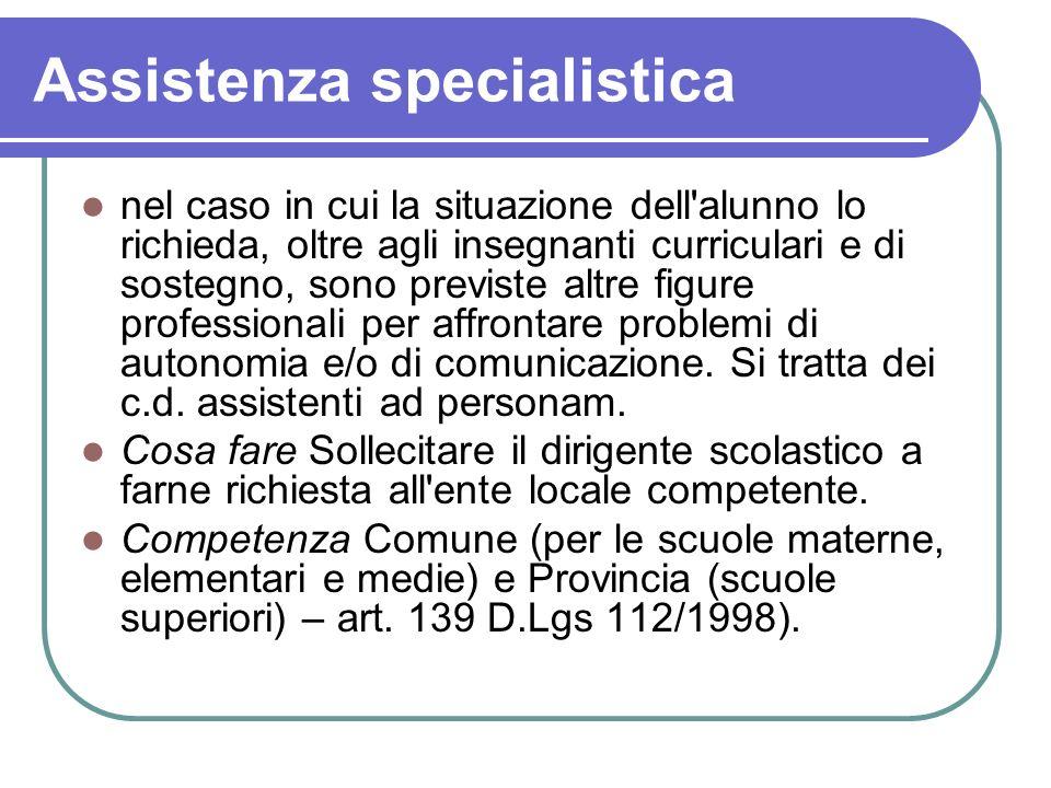 Assistenza specialistica