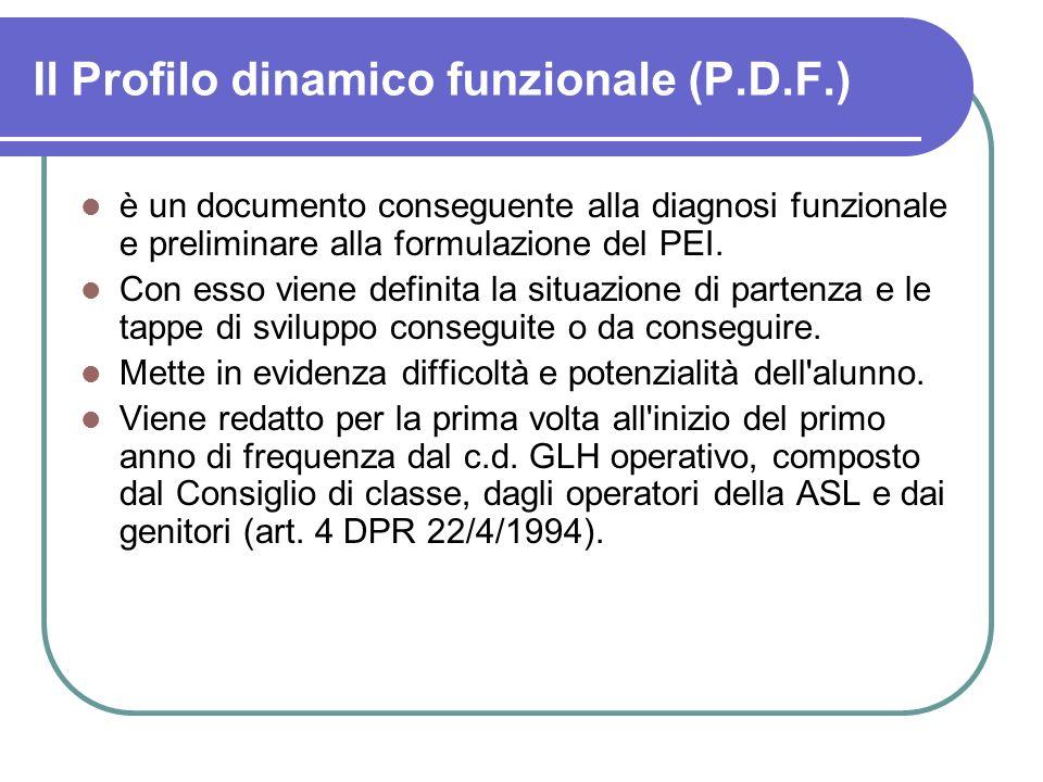 Il Profilo dinamico funzionale (P.D.F.)
