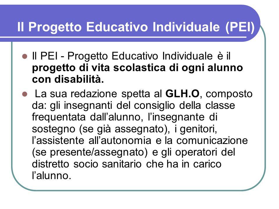 Il Progetto Educativo Individuale (PEI)
