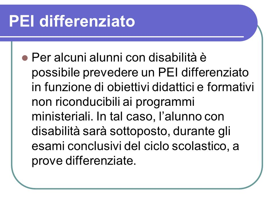 PEI differenziato
