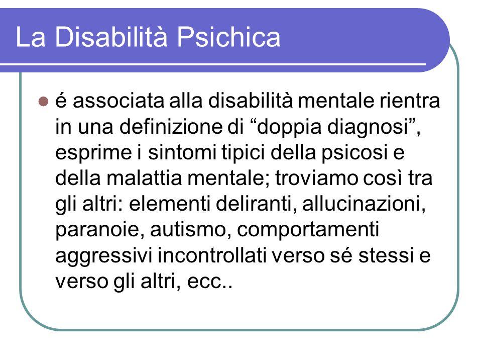 La Disabilità Psichica