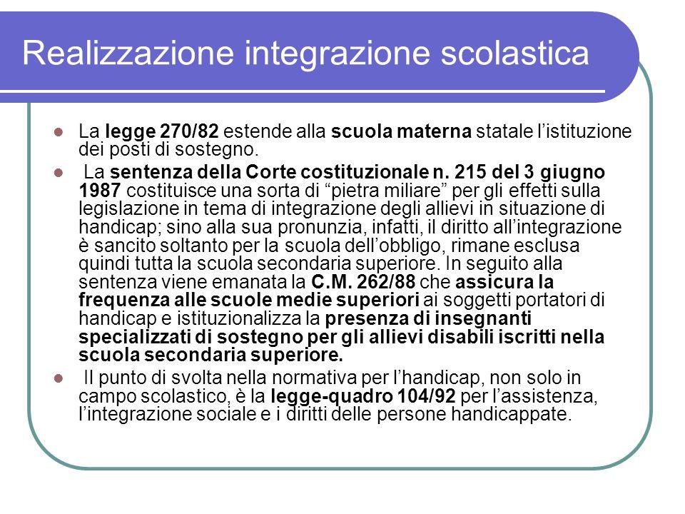 Realizzazione integrazione scolastica