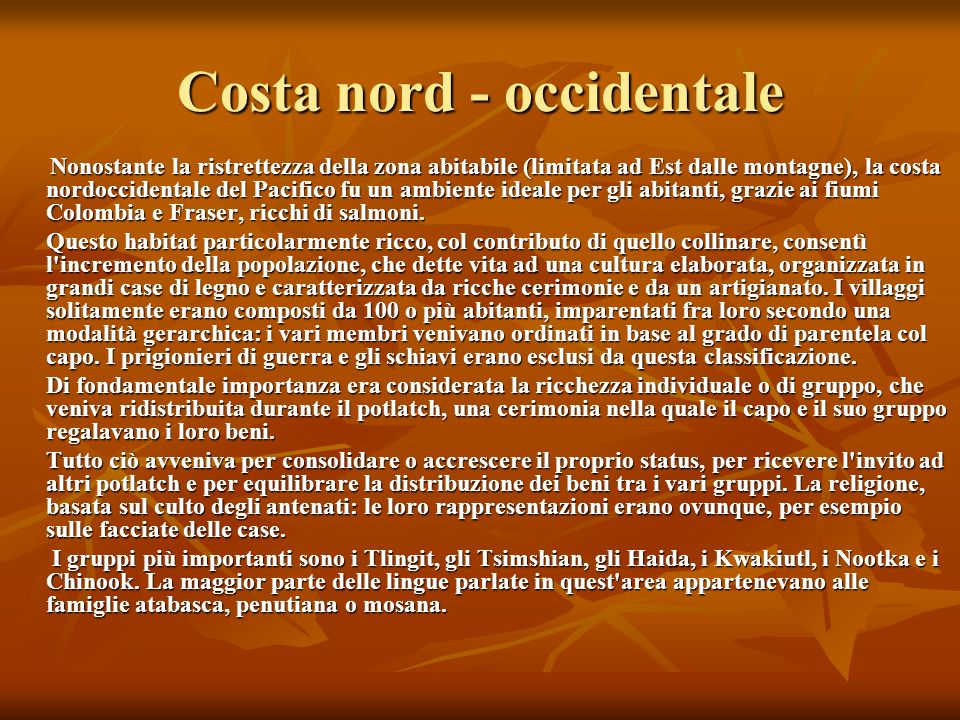 Costa nord - occidentale