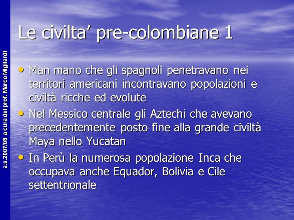 Le civilta' pre-colombiane 1