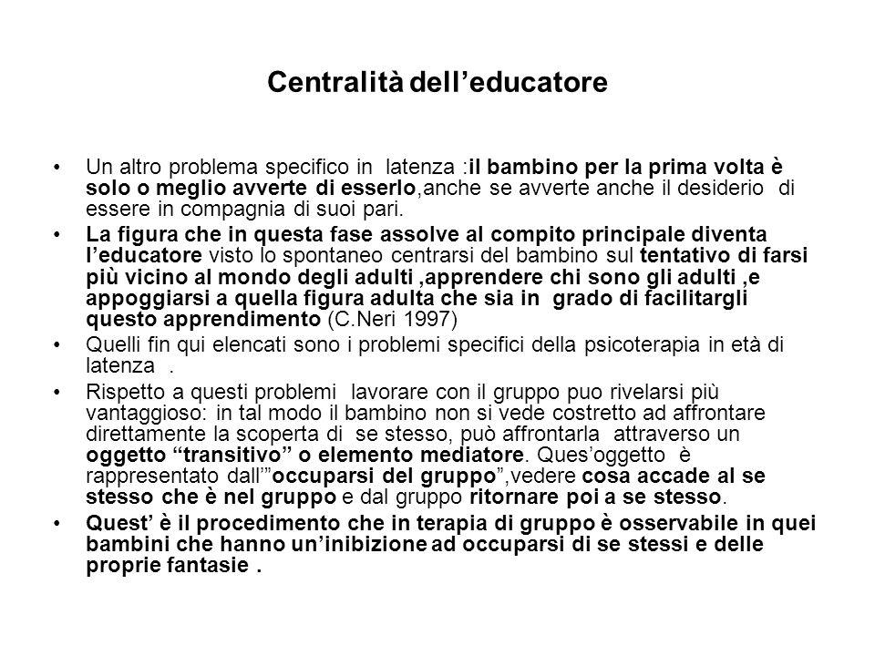 Centralità dell'educatore