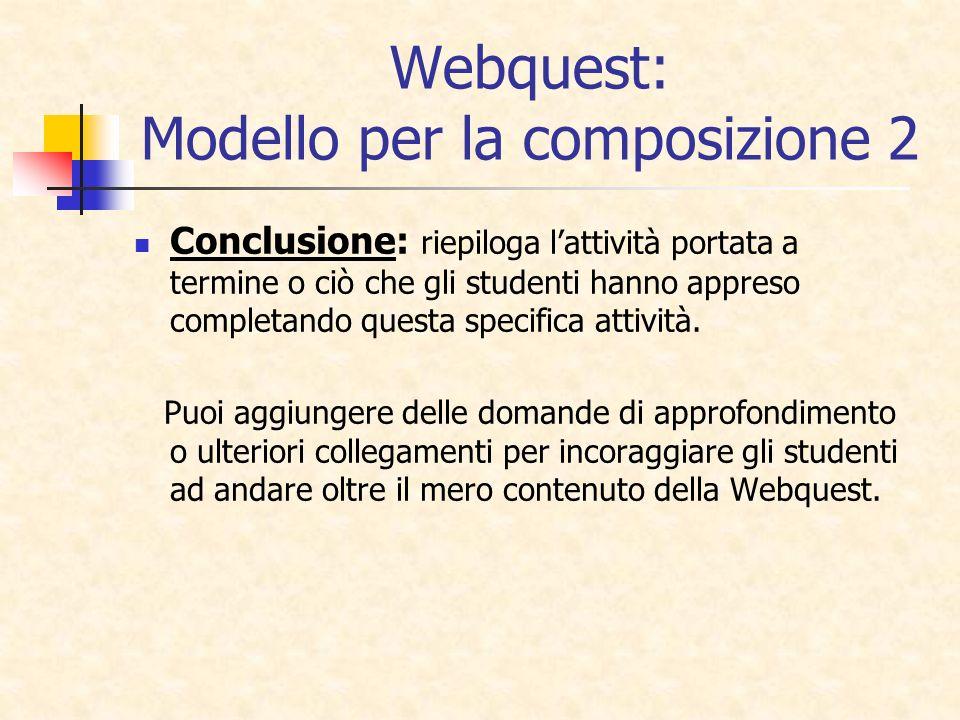 Webquest: Modello per la composizione 2