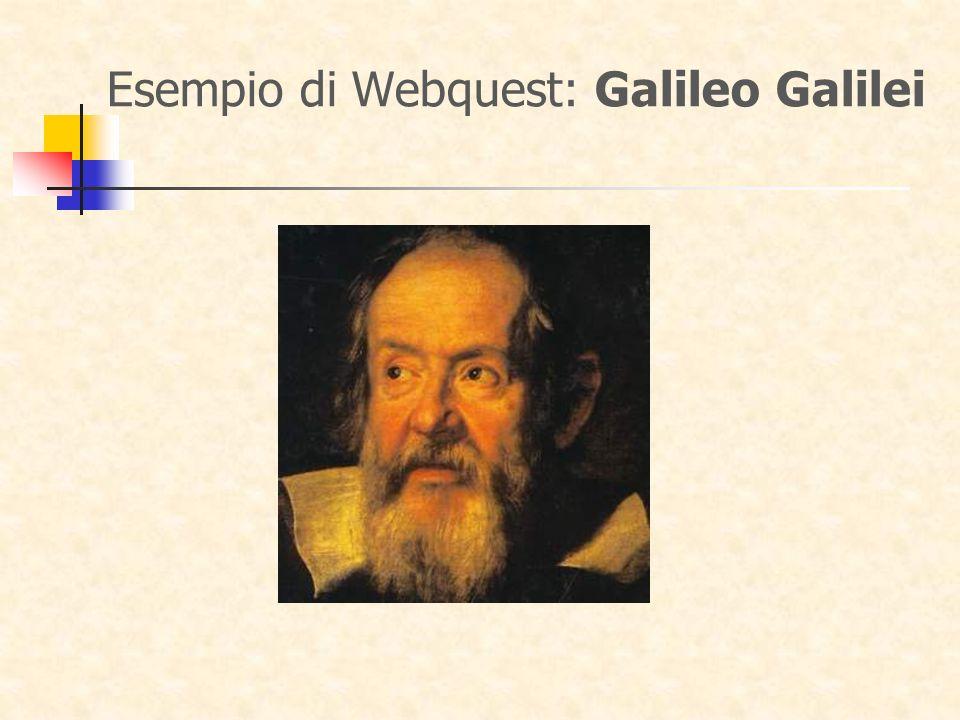 Esempio di Webquest: Galileo Galilei