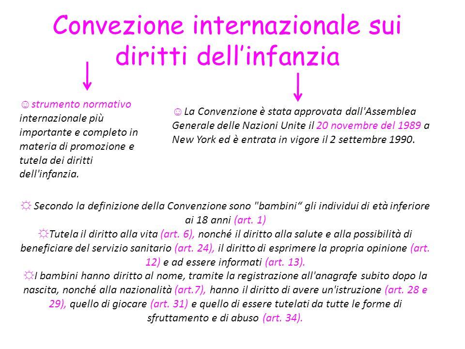 Convezione internazionale sui diritti dell'infanzia