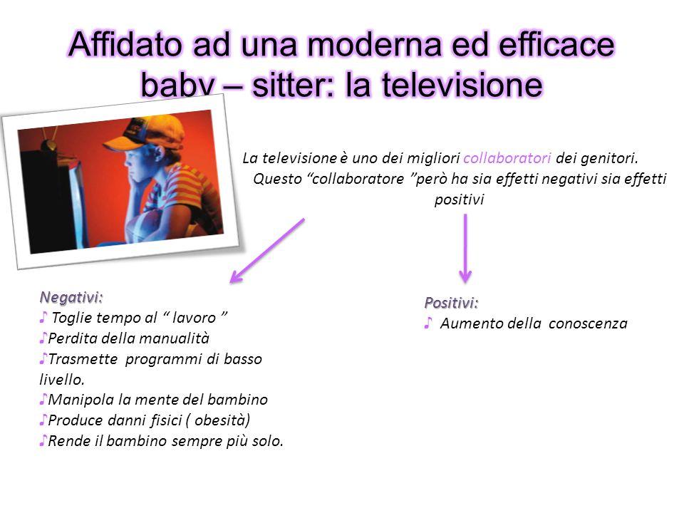 Affidato ad una moderna ed efficace baby – sitter: la televisione