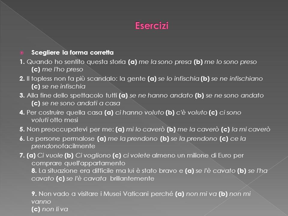 http://parliamoitaliano.altervista.org/verbi-pronominali/ Esercizi