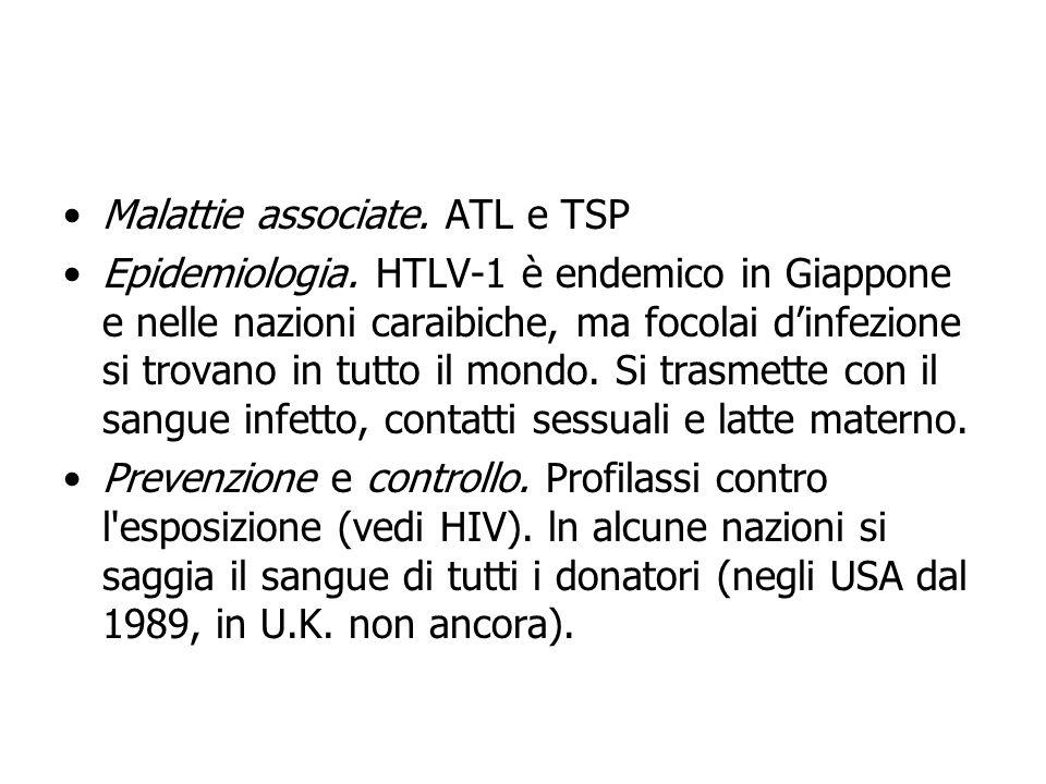 Malattie associate. ATL e TSP