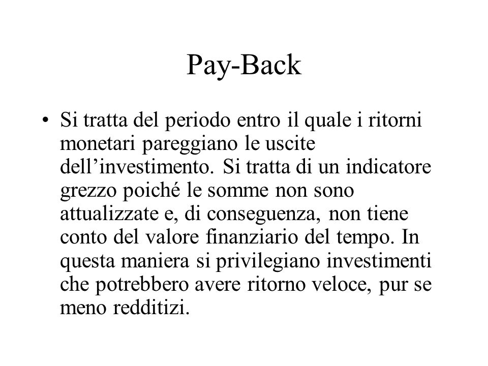 Pay-Back