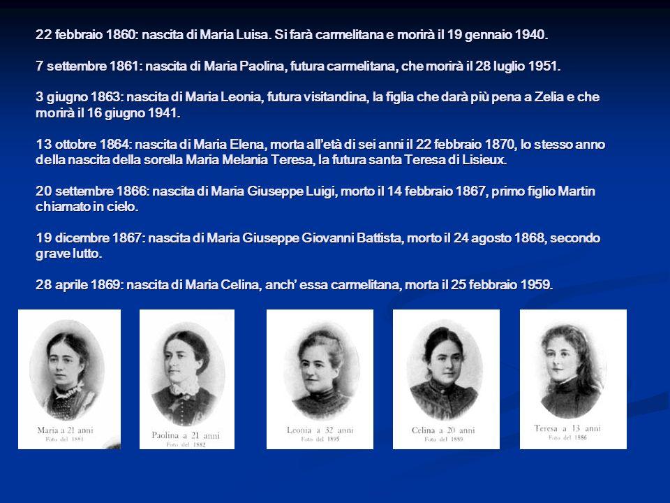 22 febbraio 1860: nascita di Maria Luisa