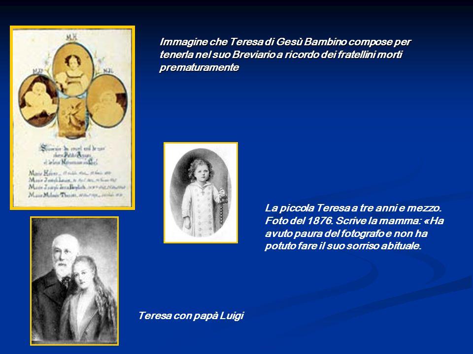 Immagine che Teresa di Gesù Bambino compose per tenerla nel suo Breviario a ricordo dei fratellini morti prematuramente