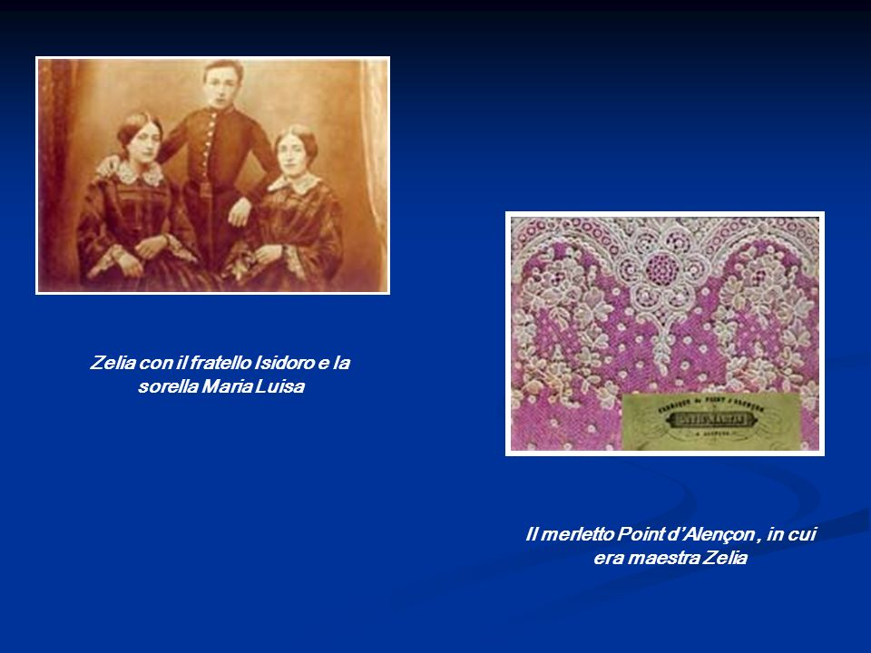 Zelia con il fratello Isidoro e la sorella Maria Luisa