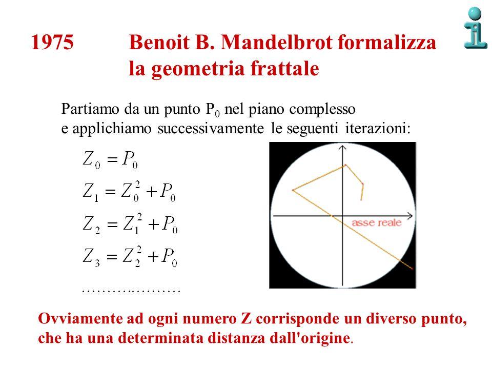 Benoit B. Mandelbrot formalizza la geometria frattale
