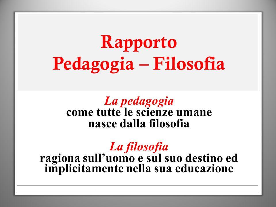 Rapporto Pedagogia – Filosofia